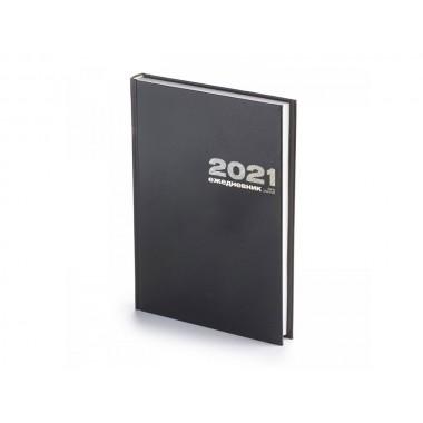 ЕЖЕДНЕВНИК 2021 А5 БУМВИНИЛ ЧЕРНЫЙ