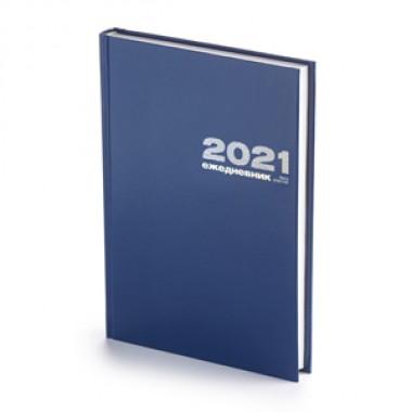 ЕЖЕДНЕВНИК 2021 А5 БУМВИНИЛ СИНИЙ
