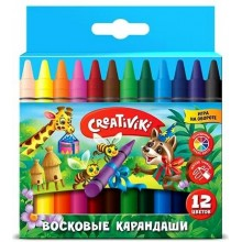 """МЕЛКИ ВОСКОВЫЕ """"CREATIVIKI"""" 12ЦВ."""