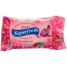 "САЛФЕТКИ ВЛАЖНЫЕ ""SUPERFRESH""FLOWER"" 15ШТ."