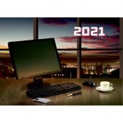"""КАЛЕНДАРЬ НАСТЕННЫЙ 3-БЛОЧНЫЙ 2021 """"ВЕЧЕРНИЙ ОФИС"""" + БЕГУНОК"""