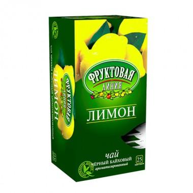 ЧАЙ  ФРУКТОВАЯ ЛИНИЯ ЛИМОННЫЙ 25*1,5 Г