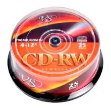 """ДИСК CD-RW """"VS"""" 4X-12X CAKEBOX 25ШТ."""