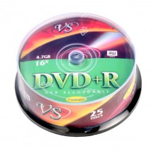 "ДИСК DVD+R ""VS"" 16Х CAKEBOX 25ШТ."