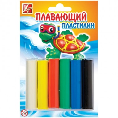 "ПЛАСТИЛИН ПЛАВАЮЩИЙ (""ЛУЧ"") 6 ЦВ."