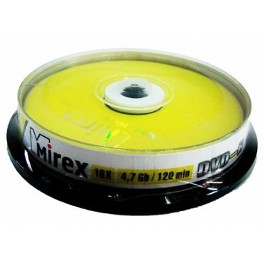 "ДИСК DVD-R ""MIREX"" 16Х CAKEBOX 10ШТ."
