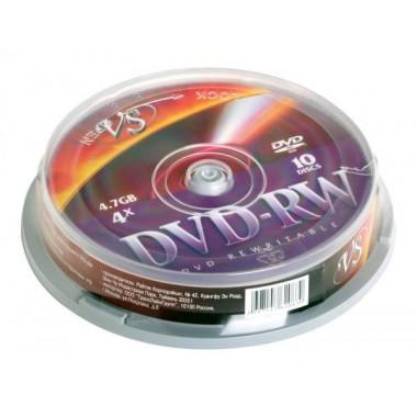 """ДИСК DVD+RW """"VS"""" 4Х CAKEBOX 10ШТ."""